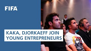 Kaká, Djorkaeff and young entrepreneurs at the FIFA Foundation Talk