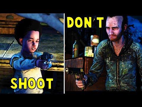 AJ Shoots vs Don't Shoot vs Attack the Stranger -All Choices- The Walking Dead The Final Season HD