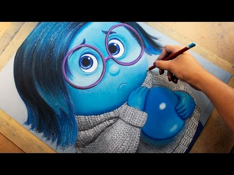 Speed Drawing: Sadness (Inside Out)  [Tristeza / Intensamente] | Diana Díaz