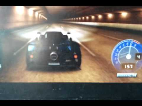 Pagani Zonda tricolre Tdu 2 tunnel run
