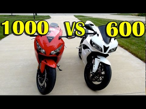 CBR1000rr vs CBR600rr Comparison - 2012 Honda CBR1000rr Review - 2008 Honda CBR600rr