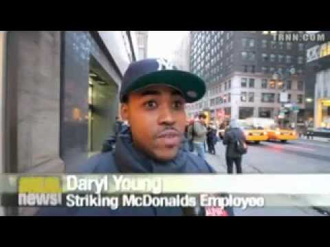 Todays NEWS New York Fast Food Workers in Strike for $15 an Hour Wage McDonald's and More This Week