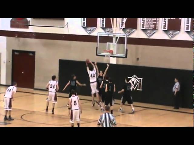 2-19-10 - Rebol banks it in off the miss (Fossil Ridge 63, Fort Morgan 50)