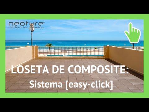 Instalacion loseta madera composite para exterior youtube for Arcones de resina para exterior