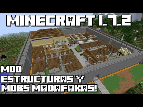 Minecraft 1.7.2 MOD ESTRUCTURAS Y MOBS MADAFAKAS