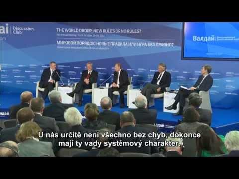 Vladimir Putin Světový řád: nová pravidla nebo hra bez pravidel? Valdaj 2014 - Diskuse titulky CZ