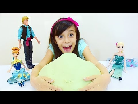 COMO FAZER MASSINHA GIGANTE do FROZEN FEVER ★ DIY ★ Receita de PlayDoh caseira muito divertida!!! thumbnail