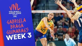 Gabi delights Brazil with 26 points vs. USA | Volleyball Nations League 2019