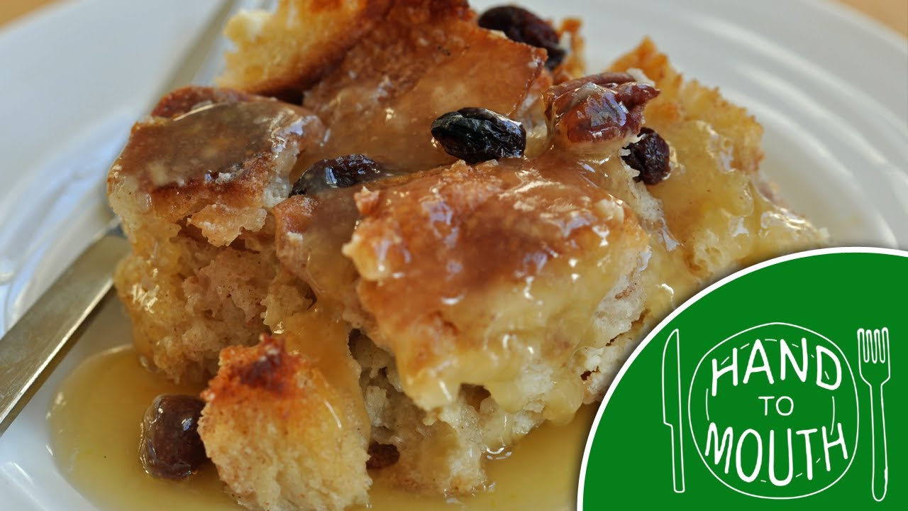 Basic Bread Pudding - Hand to Mouth - YouTube