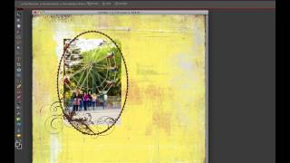 Digital Scrapbooking Basics - Digital Overlays