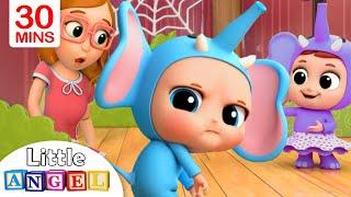 10 Little Elephants | Elephant Song | Little Angel Kids Songs \u0026 Nursery Rhymes