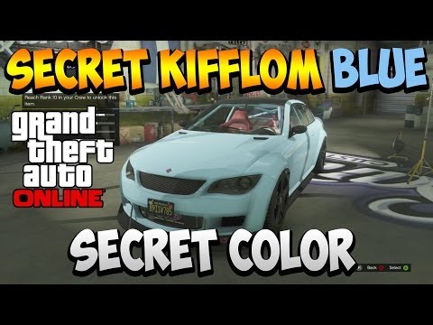 Gta 5 Online - Secret Kifflom Blue & Other Cool Paint Jobs!