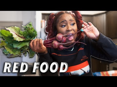 I ONLY ATE RED FOOD FOR 24 HOURS CHALLENGE!!!