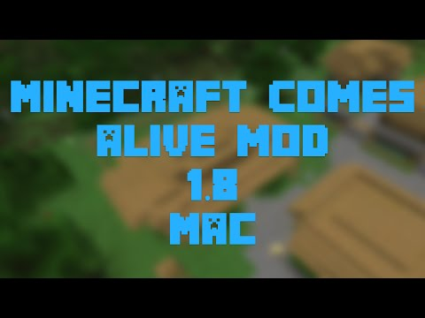 How to Install the Minecraft Comes Alive Mod for Minecraft 1.8 [Mac]