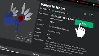 BUYING a VALKYRIE HELM... Roblox Jailbreak