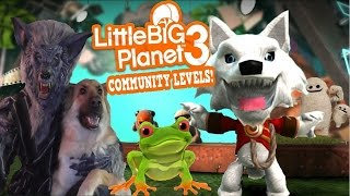 Little Big Planet 3 Community Levels (PS4) Tom Wolf Experiment - Castle Oddsock - Cross The Road