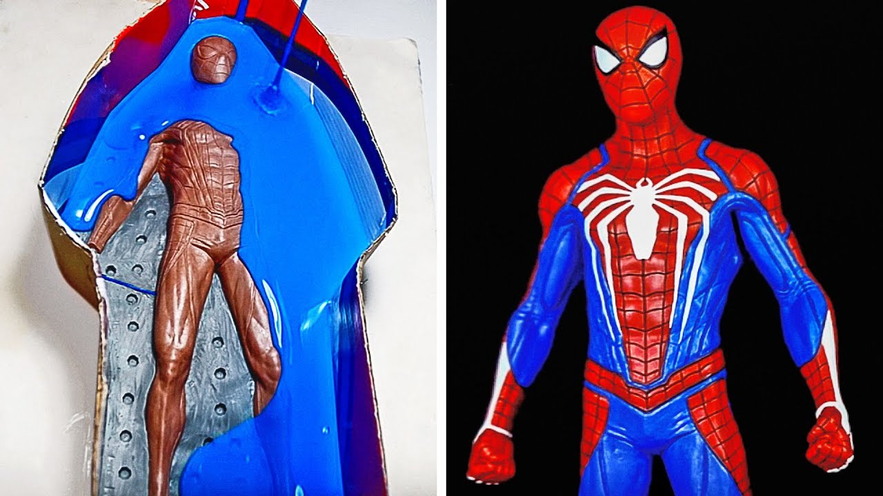 CREATING REALISTIC SPIDERMAN SCULPTURE MADE OF POLYMER CLAY