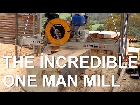 "Automated sawmill cutting 9"" sleepers from Australian hardwood"
