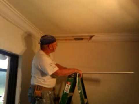 Crown Moulding Concrete Ceiling Part 1 Youtube
