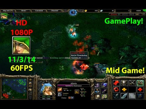 ★DoTa Windrunner - 6.83★Mid Game!★KDA 11/3/14★ 5000-6000 Points!!!★