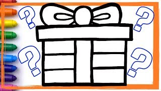 GIFT PRESENT SURPRISE Drawing and Coloring Learn Colors for Kids | Whoopee Playhouse