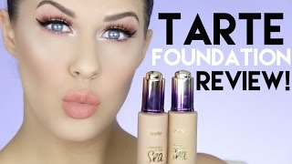 TARTE RAINFOREST OF THE SEA FOUNDATION FIRST IMPRESSION & REVIEW!! OILY SKIN 12 HR WEAR TEST!!