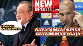 Alasan Zidane Mundur Sungguh Mengejutkan.! Zidane Dipecat ?