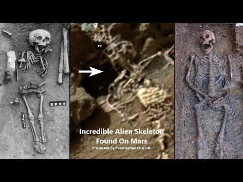 Hallaron en Marte el esqueleto de un rey