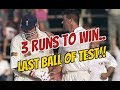 FINAL BALL of Test, 3 RUNS to Win & Never Seen Before Finish | Best Last Over Finish to a Test Match