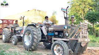 Tractor Stunt | Ford Tractor Together Pulling Bricks loaded Trolley | Punjab Tractors