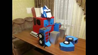 Optimus Prime transformable hand made costume