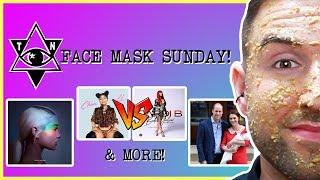 FACE MASK SUNDAY - Nicki Minaj VS Cardi B | Fitbit Versa | Royal Baby  |  thatsNathan