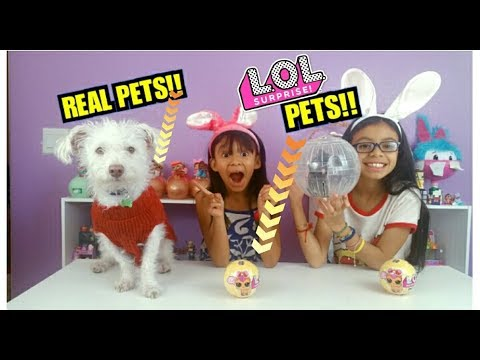 !! REAL PETS UNBOXING L.O.L SURPRISE PETS SERIES 3!! REAL DOG AND REAL HASMTER !!