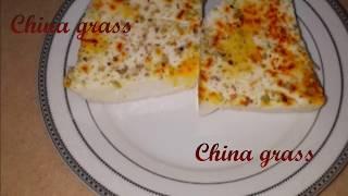How to make China grass/milk powder China grass/yummy China grass