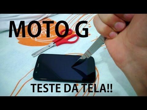 Moto G Teste da Tela - Gorilla Glass? Moto G Forte
