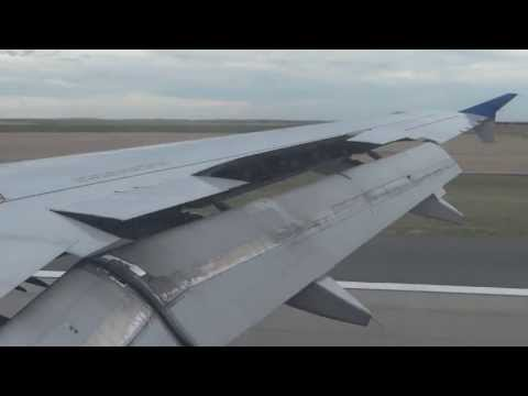United A319 Takeoff/Landing  MCI - DEN