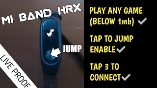 how to PLAY GAMES in mi band hrx edition - part 2