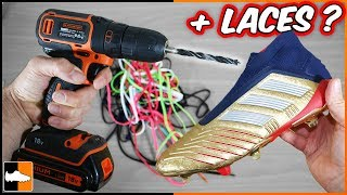 Can you ADD Laces to Football Boots? ⚽ Soccer Experiments!
