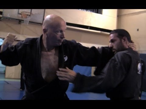 Ninjutsu techniques against Muay Thai full clinch, Yossi Sheriff, AKBAN Image 1