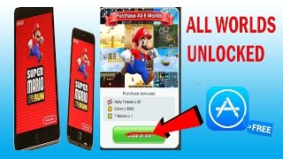 [FIXED] UNLOCK All  Worlds in Super Mario Run For FREE! Get In App Purchase of Mario Run Free!!
