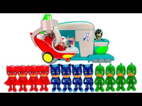 Best Learning Colors Video the PJ Masks Cloned at Romeo's Lab