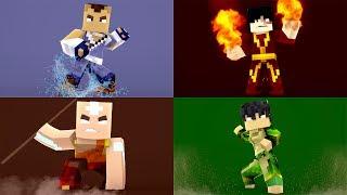 Minecraft - SÉRIE NOVA ! - AVATAR ! - QUAL ELEMENTO É O MAIS FORTE ?  ‹ LOKI ›