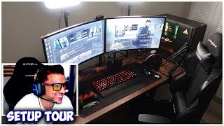 MY 2019 GAMING SETUP TOUR | BEHIND THE SCENES OF MY GAMING/STREAMING SETUP