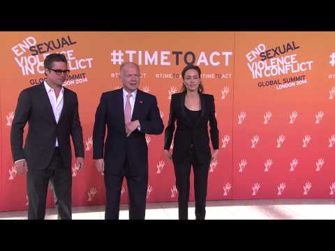 Brad Pitt, Angelina Jolie, William Hague arrive for Day 3