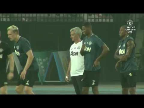 Manchester United Training Session in Beijing