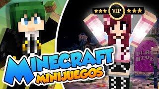 Desafiando a la gravedad con la chica VIP!! - Minijuegos Minecraft con @Naishys