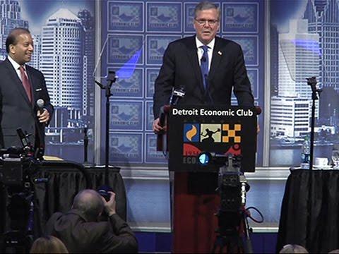Jeb Bush Talks Middle Class, Immigration