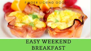 Tasty Egg Ham Cheese Muffin Breakfast Recipe *Quick & Easy Keto Meal Prep*