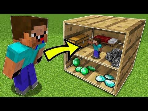 Что Внутри этого Блока в Майнкрафт? Мини-дом внутри блока нуба! Неудачник нуб против Секрет в Блоке