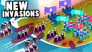 Defending Our Islands from NEW Viking INVASIONS! (Bad North Gameplay)